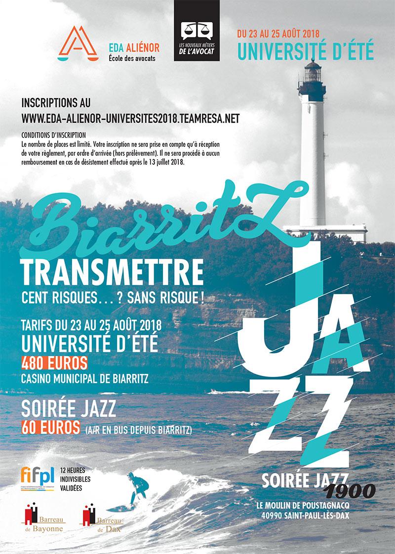 Université d'été Biarritz-23 au 25 août 2018