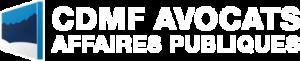 Logo blanc de CDMF Avocats Affaires Publiques